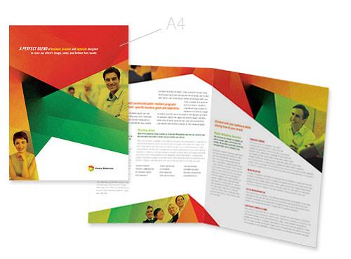 A4 Folders drukken, gevouwen folders in fullcolour bedrukt