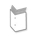 Boekjes A6 met 48 pagina's zwart-wit op 90 grs mat papier