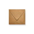 Brons metallic enveloppen 140x140mm - Gratis bezorgd