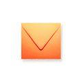 Oranje enveloppen 140x140mm - Gratis bezorgd
