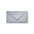Zilver metallic enveloppen 110x220mm - Gratis bezorgd