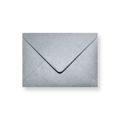 Zilver metallic enveloppen 110x156mm - Gratis bezorgd