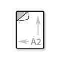 A2 Transparante sticker groot 42 x 59,4 cm - bedrukt in full-color