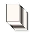 A4 Flyers eenzijdig bedrukt op 100 grs biotop papier (licht crême)