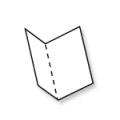 Kaarten opengeklapt 110 x 130 mm - tweezijdig bedrukt op 350 grs papier