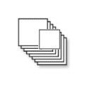 Vierkante flyers 15 cm op dik papier