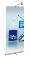 Roll Up Banner Compact 85 cm - variabele hoogte tot 223 cm