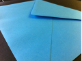 Blauwe enveloppen 110x220mm - Gratis bezorgd