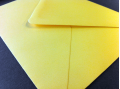 Gele enveloppen 140x140mm - Gratis bezorgd