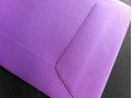 Paarse enveloppen 90x140mm - Gratis bezorgd