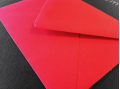 Rode enveloppen 110x156mm - Gratis bezorgd